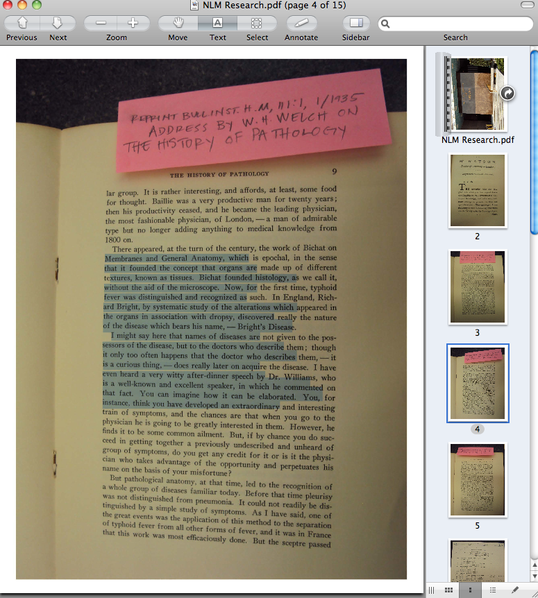 Selecting text in my archival photo
