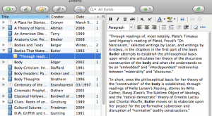 Screenshot of my Zotero library
