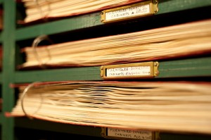 Photo of archival binders