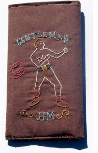 Embroidered portrait of Jim Corbett