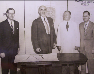 Freeman (center) within one of his AMA exhibits