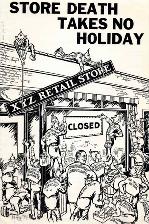 A brochure called Store Death Takes No Holiday