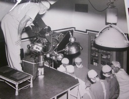 Televising an operation, mid-1950s