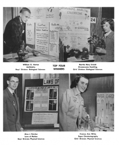 Photo of the first National Science Fair, 1950