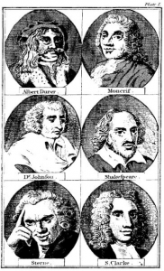 Engravings of faces