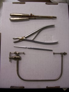 A set of tools for performing lobotomies from Walter Freeman's archives