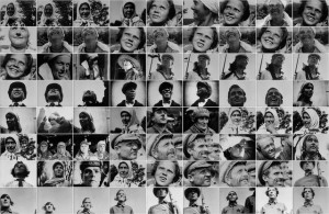 Mosaic of close-ups from Vertov's The Eleventh Year