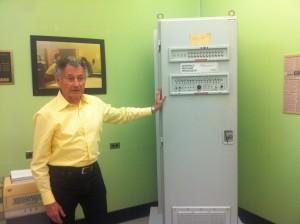Leonard Kleinrock with UCLA's Interface Message Processor.