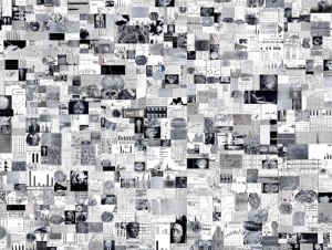 A mosaic of some of the 3,000 images